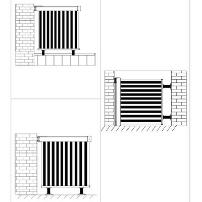 vidaXL Balcony Side Awning Multi-functional 150x200 cm Black