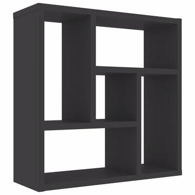 vidaXL Wall Shelf Grey 45.1x16x45.1 cm Chipboard