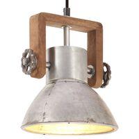 vidaXL Industrial Hanging Lamp 25 W Silver Round 19 cm E27