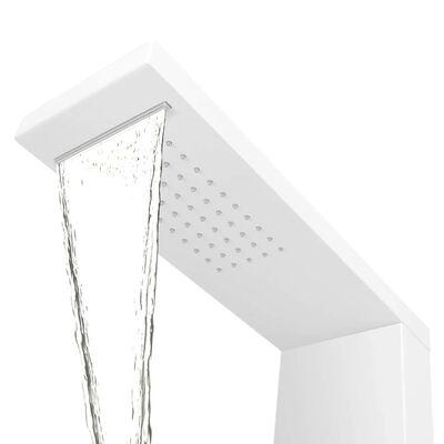 vidaXL Shower Panel System Aluminium Matte White