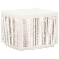 vidaXL Garden Table White 53x53x40 cm Plastic