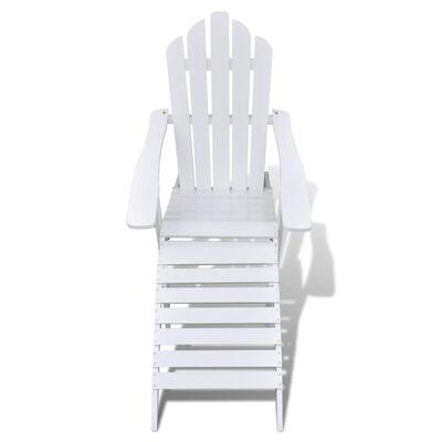 vidaXL Garden Chair with Ottoman Wood White