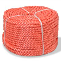 vidaXL Twisted Rope Polypropylene 10 mm 500 m Orange