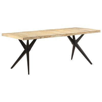vidaXL Dining Table 200x90x76 cm Rough Mango Wood