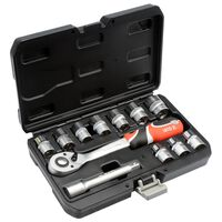 YATO 12 Piece Ratcheting Socket Spanner Set YT-38671