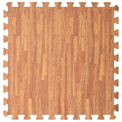 vidaXL Floor Mats 6 pcs Wood Grain 2.16 ㎡ EVA Foam