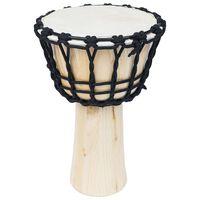 vidaXL Djembe Drum with Rope Tension 25 cm Goat Skin
