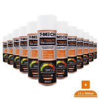 12 x Ultimate Trim Adhesive Glue Van Lining Heat Resistant Spray 500ml