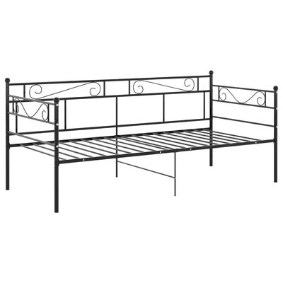 vidaXL Sofa Bed Frame Black Metal 90x200 cm