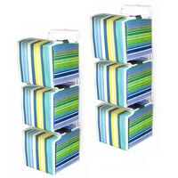 Wall Mounted 66 CD Storage Unit with Canvas Carry Boxes