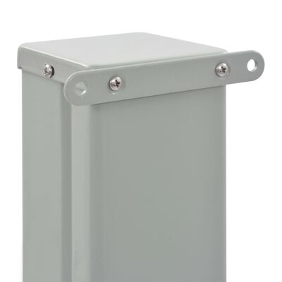 vidaXL Patio Retractable Side Awning 100 x 300 cm Grey