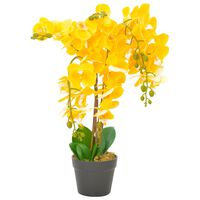 vidaXL Artificial Plant Orchid with Pot Yellow 60 cm