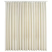 vidaXL Blackout Curtain with Hooks Velvet Cream 290x245 cm