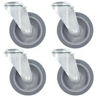 vidaXL 8 pcs Bolt Hole Swivel Casters 100 mm