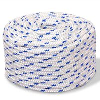 vidaXL Marine Rope Polypropylene 14 mm 50 m White
