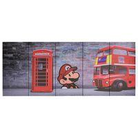 vidaXL Canvas Wall Print Set London Multicolour 200x80 cm