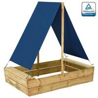 vidaXL Sandpit with Roof 80x60x97.5 cm Impregnated Pinewood