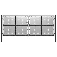 vidaXL Garden Gate Steel 400x150 cm Silver