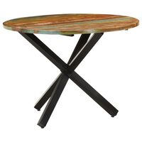 vidaXL Dining Table Round 100x100x75 cm Solid Reclaimed Wood