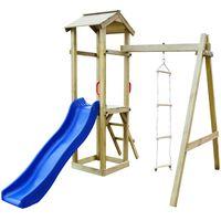 vidaXL Playhouse Set with Slide Ladders 237x168x218 cm Wood