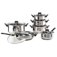 HI 12 Piece Cookware Set Stainless Steel