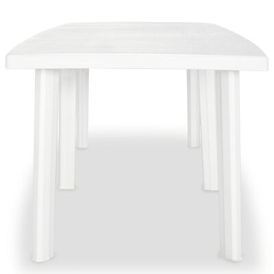 vidaXL Garden Table White 210x96x72 cm Plastic