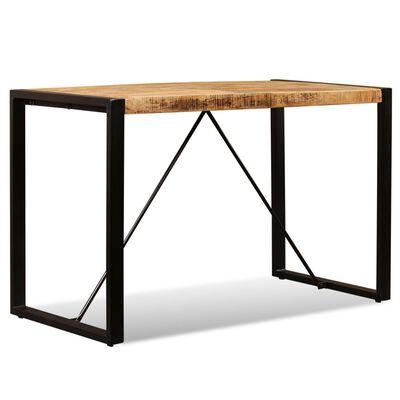 vidaXL Dining Table Solid Rough Mango Wood 120 cm