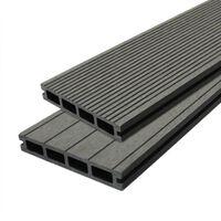 Jardí Composite Decking Boards Edging Wood Plastic / 6 SQM Castle Grey