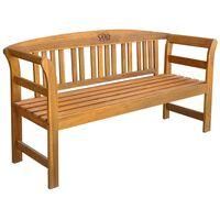vidaXL Garden Bench 157 cm Solid Acacia Wood