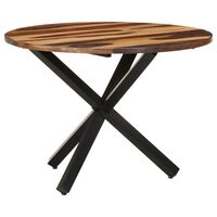 vidaXL Dining Table 100x100x75 cm Acacia Wood with Sheesham Finish