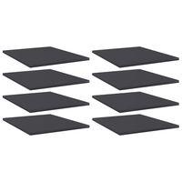 vidaXL Bookshelf Boards 8 pcs Grey 40x50x1.5 cm Chipboard