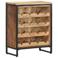 vidaXL Wine Cabinet 62x33x78.5 cm Rough Mango Wood