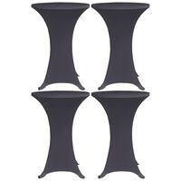 vidaXL Stretch Table Cover 4 pcs 80 cm Anthracite