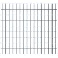 vidaXL 2D Garden Fence Panels 2.008x1.83 m  4 m (Total Length) Grey