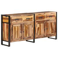 vidaXL Sideboard 172x35x80 cm Solid Acacia Wood with Sheesham Finish