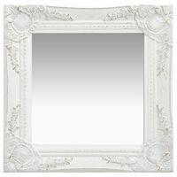 vidaXL Wall Mirror Baroque Style 40x40 cm White