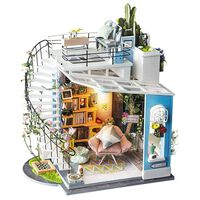 Robotime DIY Miniature Kit Dora's Loft with LED Light