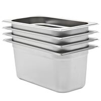 vidaXL Gastronorm Containers 4 pcs GN 1/3 150 mm Stainless Steel