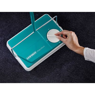 Leifheit Carpet Sweeper Regulus Turquoise and White 11700