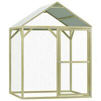 vidaXL Chicken Cage 1.5x1.5x2 m Impregnated Pinewood