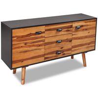 vidaXL Sideboard Solid Acacia Wood 115x35x70 cm