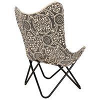 vidaXL Butterfly Chair Printed Canvas