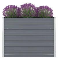 vidaXL Raised Garden Bed 100x100x77 cm Galvanised Steel Grey