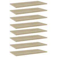 vidaXL Bookshelf Boards 8 pcs Sonoma Oak 60x30x1.5 cm Chipboard