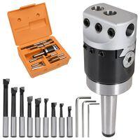 vidaXL 15 Pieces Boring Tool Set 50 mm Boring Head MT2-F1-12