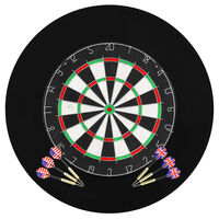 vidaXL Professional Dart Set with Dartboard and Surround Sisal Steel