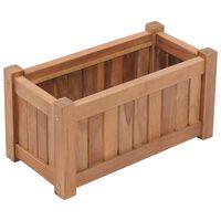 vidaXL Raised Bed 50x25x25 cm Solid Teak Wood