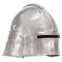 vidaXL Medieval Knight Helmet Antique Replica LARP Silver Steel