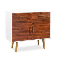 vidaXL Sideboard Solid Acacia Wood 90x33.5x83 cm