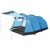 vidaXL Tunnel Camping Tent 4 Person Blue
